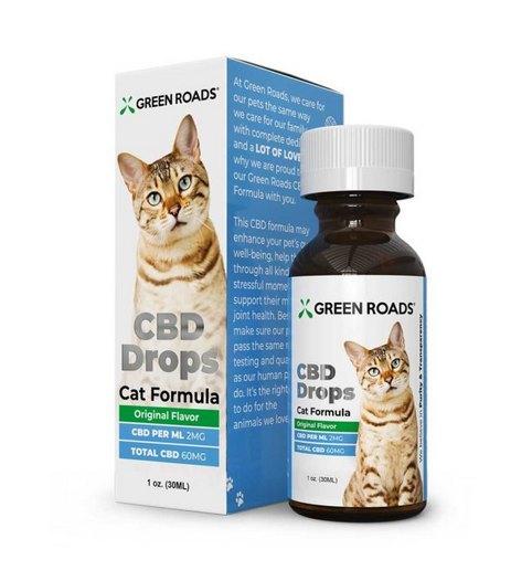GreenRoads-CBD Drops – Cat Formula 60mg