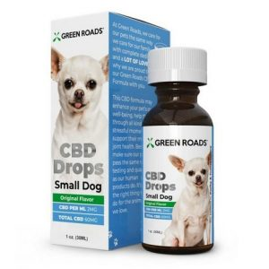 GreenRoads CBD Drops Dogs Formula small dog