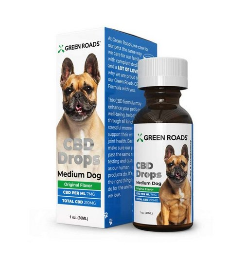 GreenRoads CBD Drops Dogs Formula medium dogs