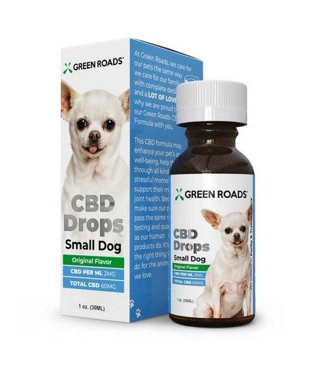 GreenRoads CBD Drops Dogs Formula small dog