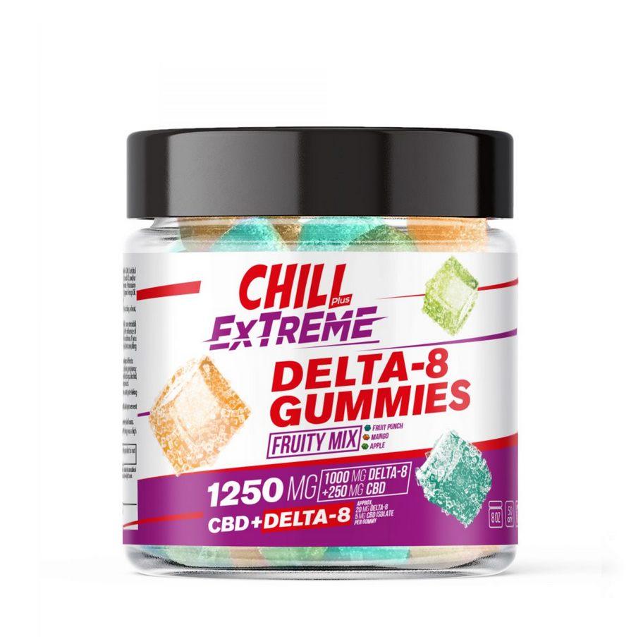Chill Plus CBD & Delta-8 Extreme Fruity Mix Gummies - 1250X