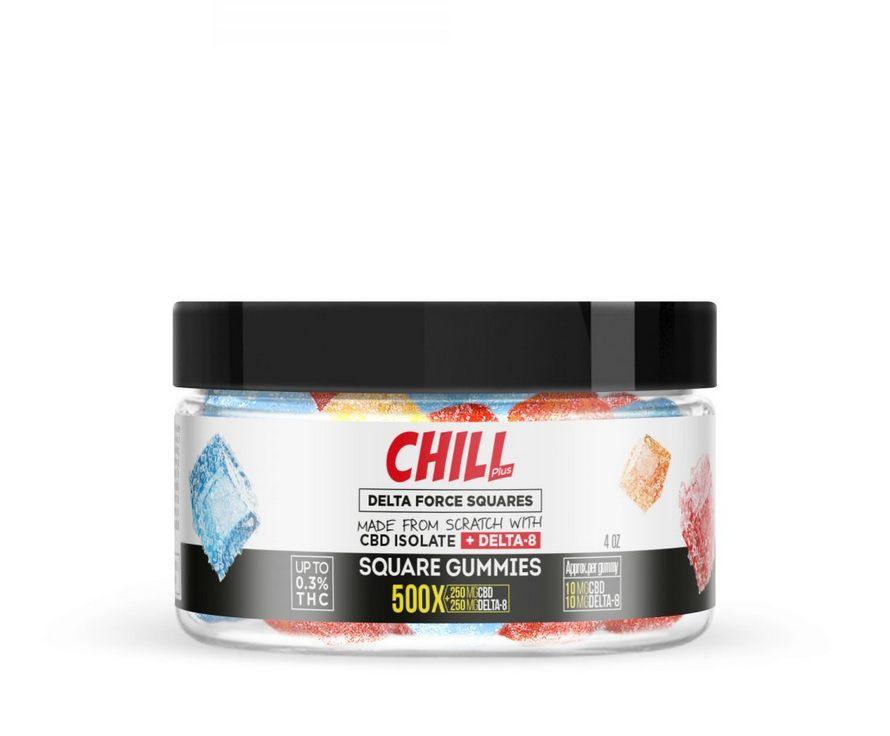 Chill Plus Delta-8 Squares Gummies - 500X