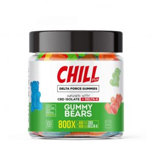 Chill Plus Delta Force Gummy Bears - 800X