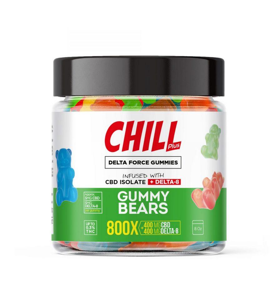 Chill Plus Delta Force Gummy Bears - 800X