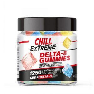 Chill Plus CBD & Delta-8 Extreme Tropical Mix Gummies - 1250X