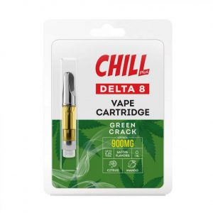 Chill Plus Delta-8 Vape Cartridge - Green Crack - 900mg (1ml)